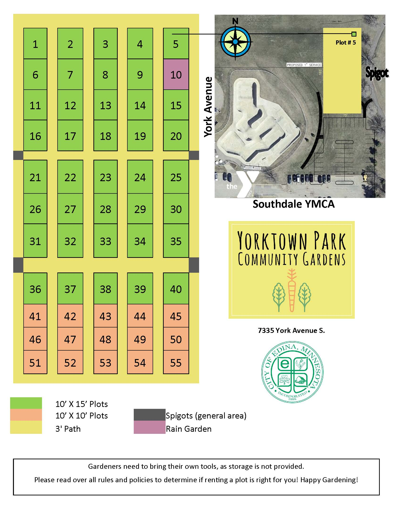 Community Garden Plot Map
