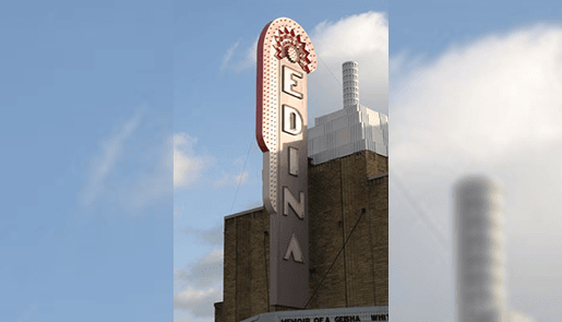 Edina Theater Sign