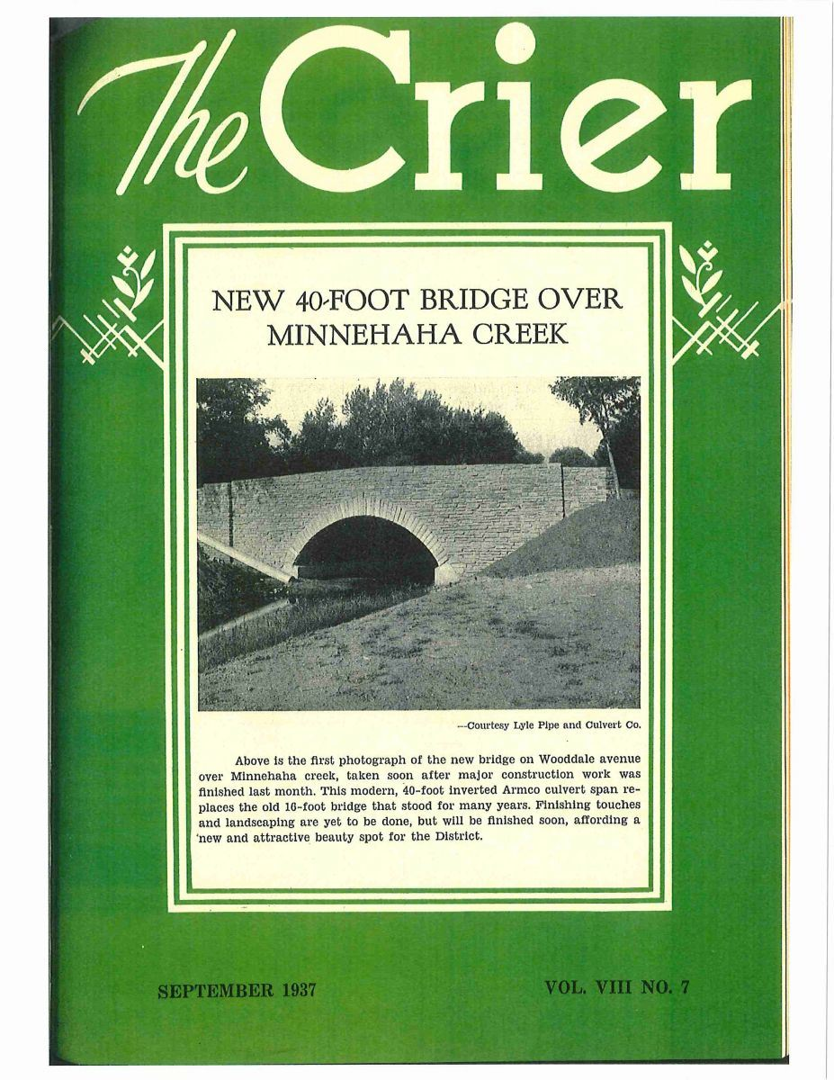 The Crier with the Wooddale Avenue Bridge on the Cover