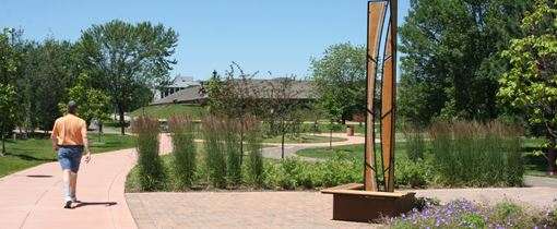 Landscaping on the Edina Promenade includes an abundance of native plants.