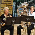 Members of the First John Philip Sousa Memorial Band perform