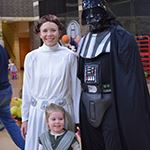 Star Wars family at Not No Scary Halloween Party