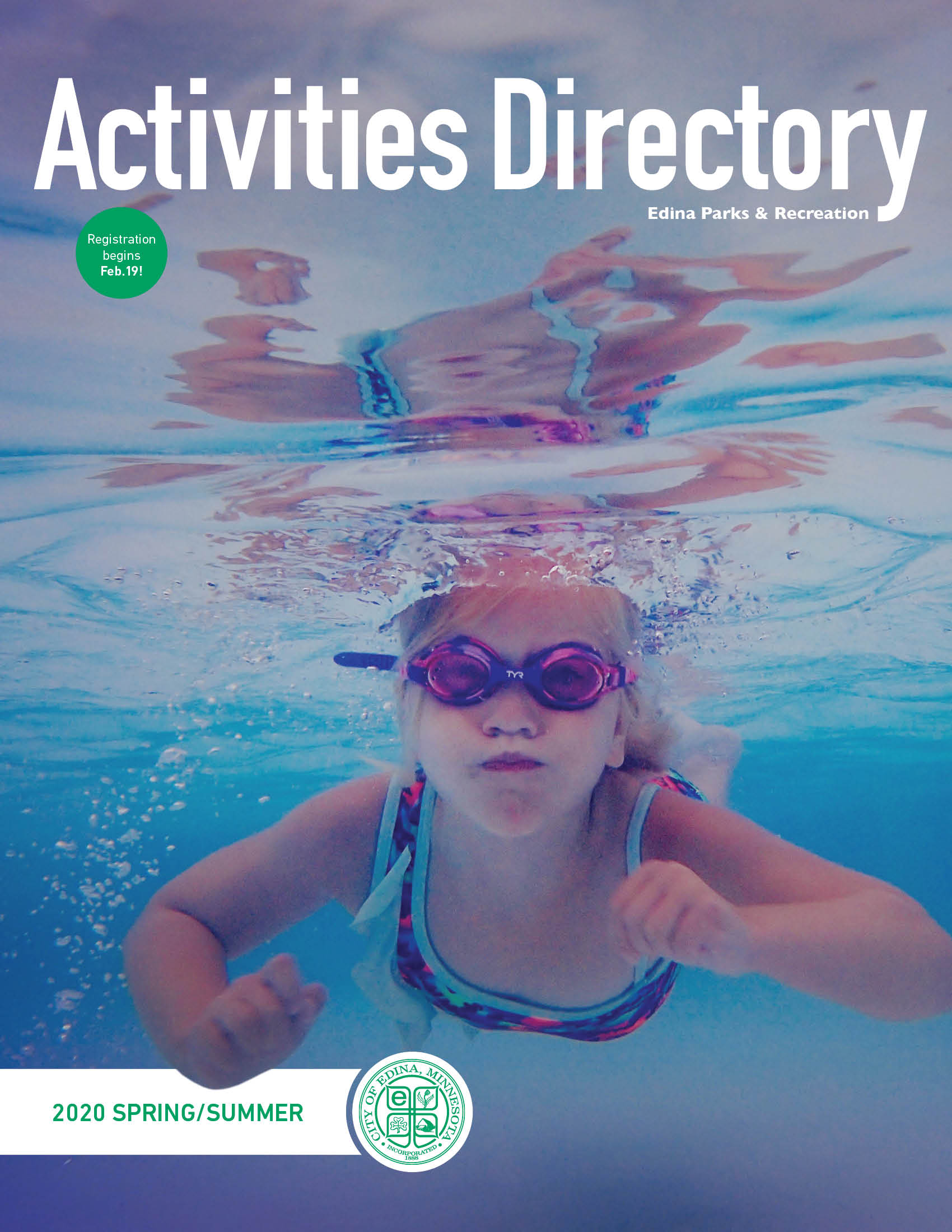 Activities Directory cover image of girl swimming