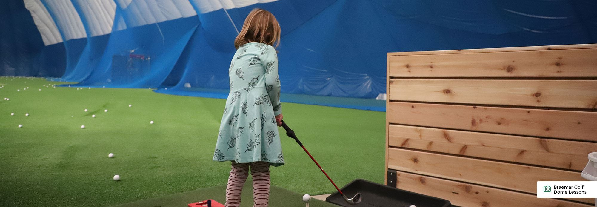 Braemar Golf Dome lessons for kids