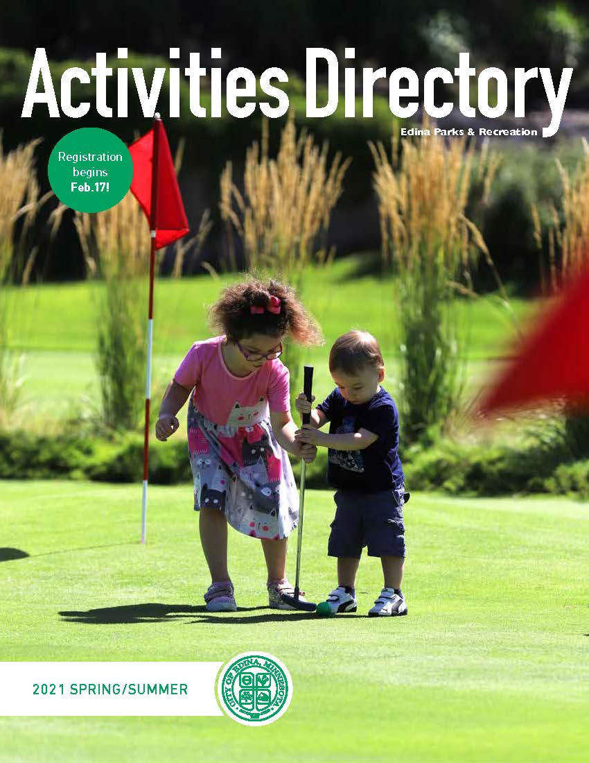 Activities Directory cover image of girl and boy on putting course